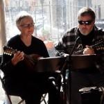Canadian mandolinist Barbara Conrad - passing through Cincinnati, recruited to play a charity gig!